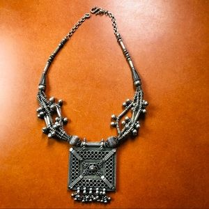 Charming Vintage Retro Necklace with LargePendant